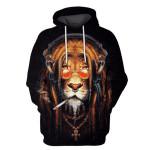 Gearhumans King Tiger glasses Hoodies - Tshir Apparel