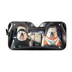 Gearhumans 3D Bulldog 10 Custom Car Auto Sunshade