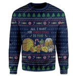 Gearhumans Ugly All I Want For Christmas Is Food Custom T-shirt - Hoodies Apparel