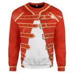 Gearhumans 3D Freddie Mercury Costume Custom Sweatshirt Apparel
