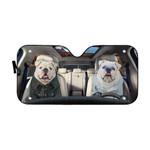 Gearhumans 3D Bulldog 17 Custom Car Auto Sunshade