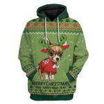 Gearhumans Ugly Chihuahua Christmas Hoodie T-Shirts Apparel
