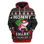 Gearhumans Ugly Christmas Mommy Shark Custom T-Shirts Hoodie Apparel