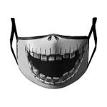 Gearhumans 3D Jack Skellington Face Halloween Cosplay Custom Water Proof Fabric Face Mask