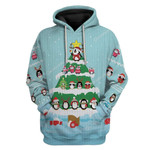 Gearhumans Ugly Cute Penguin Christmas Tree Custom T-Shirts Hoodies Apparel