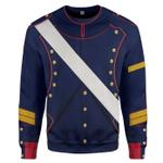 Gearhumans 3D French Line Artillery 1806 Custom Sweatshirt Apparel