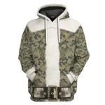 Gearhumans 3D Santa Claus Camouflage Custom Hoodie Apparel