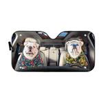 Gearhumans 3D Bulldog 15 Custom Car Auto Sunshade