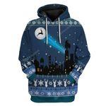 Gearhumans Ugly Reindeer Signal Light Up Christmas Custom T-Shirts Hoodies Apparel