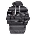 Gearhumans Black cat Hoodies - T-Shirts Apparel