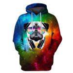 Gearhumans PUG Galaxy Hoodies - T-Shirt Apparel