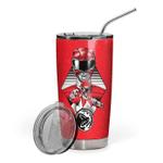 Gearhumans 3D The Red MIGHTY MORPHIN Power Ranger Custom Design Vacuum Insulated Tumbler