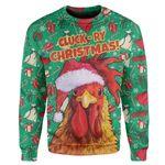 Gearhumans Ugly Cluck-ry Christmas Custom Sweater Apparel