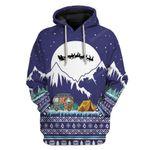 Gearhumans Ugly Christmas Camping Custom T-shirt - Hoodies Apparel