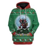 Gearhumans Ugly Demon Puss Christmas Custom T-Shirts Hoodies Apparel
