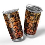 Gearhumans 3D Everyday Is Halloween Custom Design Vacuum Insulated Tumbler