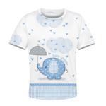 Gearhumans cute elephant baby shower Kid Custom Hoodies T-shirt Apparel