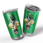 Gearhumans 3D The Green Power Ranger Custom Design Vacuum Insulated Tumbler