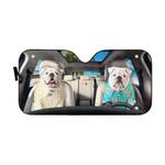 Gearhumans 3D Bulldog 14 Custom Car Auto Sunshade