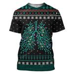 Gearhumans Ugly Respiratory Christmas Lights Custom T-Shirts Hoodies Apparel