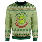 Gearhumans Ugly Christmas The Cat Who Stole Christmas Custom Sweater Apparel