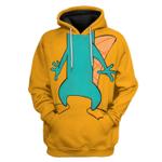 Gearhumans 3D Perry The Platypus Custom Hoodie Apparel