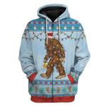 Gearhumans Ugly Christmas Bigfoot Hoodie T-Shirts Apparel