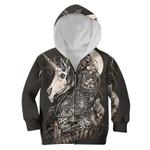 Gearhumans Cool Skull Unicorn Custom Hoodies T-shirt Apparel