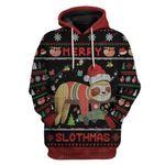 Gearhumans Ugly Merry Slothmas Custom T-shirt - Hoodies Apparel