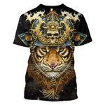 Gearhumans Tiger Samurai Hoodies - T-shirt Apparel