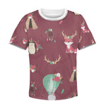 Gearhumans Pets with flowers Kid Custom Hoodies T-shirt Apparel