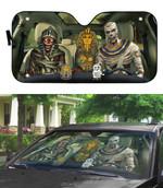 Gearhumans 3D Halloween Mummy Custom Car Auto Sunshade