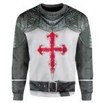 Gearhumans 3D Crusader Knight Armour Custom Sweatshirt Apparel