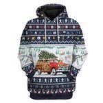 Gearhumans Ugly Dog Pickup Retro Camper And Wagon Christmas Custom T-Shirts Hoodies Apparel