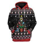 Gearhumans Ugly Christmas Ice Hockey Christmas Tree Hoodie T-Shirts Apparel