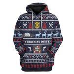 Gearhumans Ugly Christmas Police Custom T-Shirts Hoodies Apparel