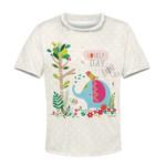 Gearhumans Elephant with a lovely day Kid Custom Hoodies T-shirt Apparel