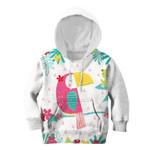 Gearhumans Pink Parrot Custom Hoodies T-shirt Apparel