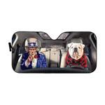 Gearhumans 3D Uncle Sam And Bulldog Custom Car Auto Sunshade