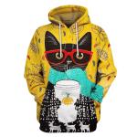 Gearhumans Black Cat Hoodies - T-Shirt Apparel