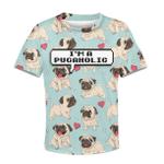 Gearhumans I AM PUGAHOLIC Kid Custom Hoodies T-shirt Apparel