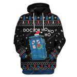 Gearhumans Ugly Christmas Doctor Ho Ho Ho Hoodie T-Shirts Apparel