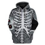 Gearhumans GearHuman 3D Skeleton Hoodie TShirt Apparel