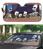 Gearhumans 3D The Simpsons Skeleton Custom Car Auto Sunshade