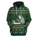 Gearhumans Ugly Santa Welder Hoodie T-Shirts Apparel
