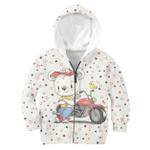 Gearhumans Bear Motorcycle Rider Custom Hoodies T-shirt Apparel