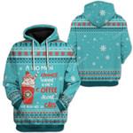 Gearhumans Ugly Christmas Coffee & Cat Custom T-Shirts Hoodies Apparel