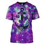 Gearhumans Galaxy Anchor Hoodies T-Shirt Apparel