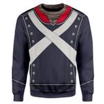 Gearhumans 3D French Light Infantry Custom Sweatshirt Apparel