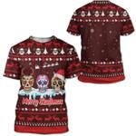 Gearhumans Ugly Merry Skullmas Custom T-shirt - Hoodies Apparel